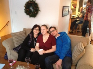 Ashley, and Mama ELR with me at Christmas dinner.