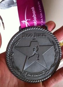 2012 Calgary Marathon Weekend, Jugo Juice 10km Finisher medal
